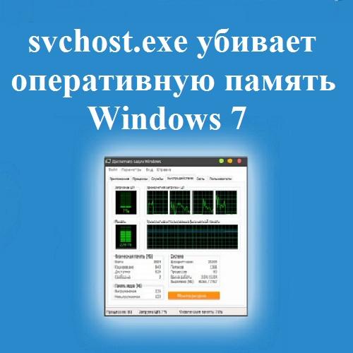 svchost.exe убивает оперативную память Windows 7
