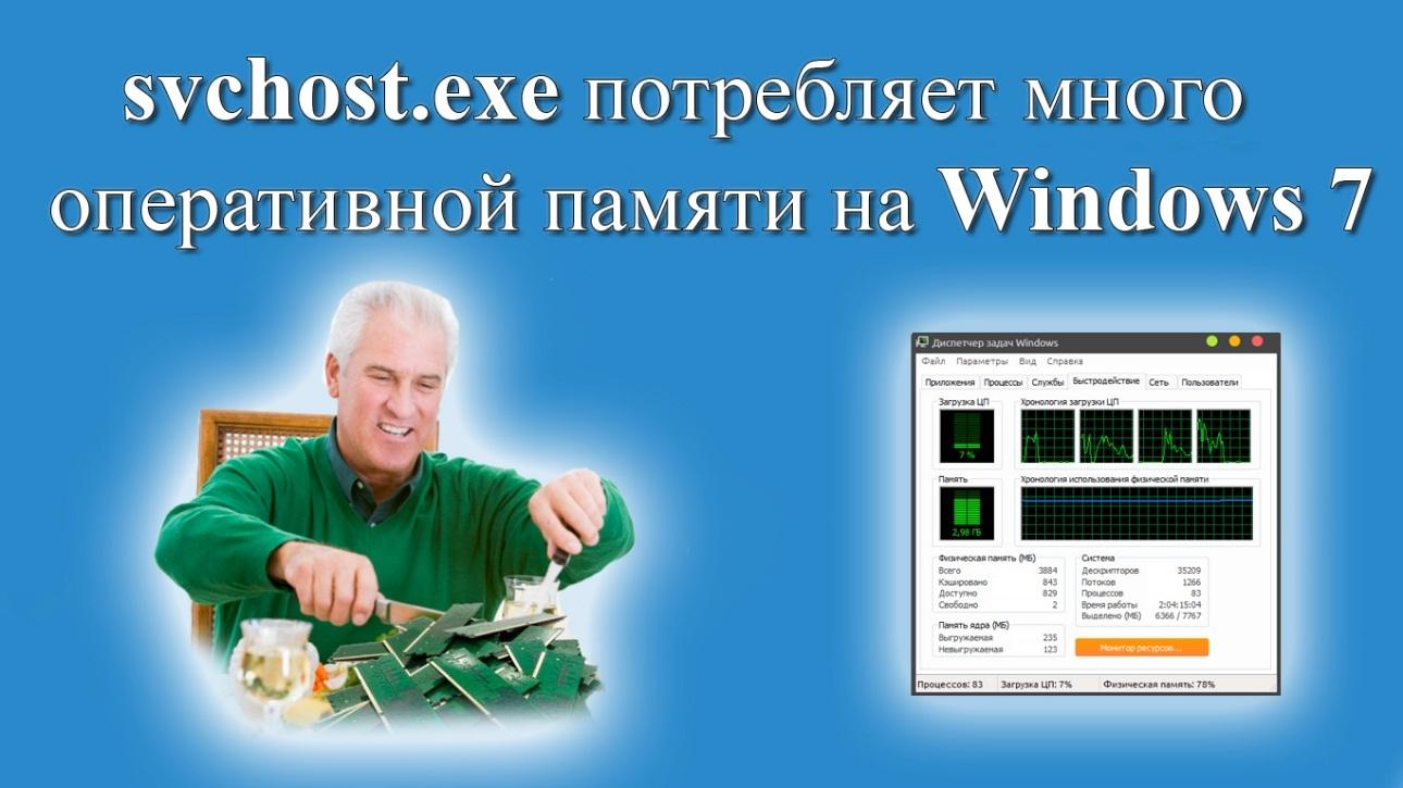 svchost exe потребляет много оперативной памяти на Windows 7