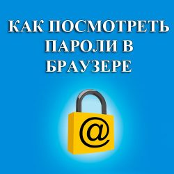 как посмотреть пароли в браузере
