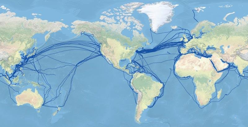 Подводные интернет кабели