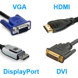 HDMI DVI VGA DP